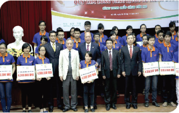 TIENS bienfaisance œuvre caritative monde developpement education universite medecine Vietnam