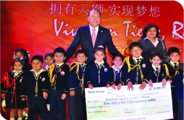 TIENS bienfaisance œuvre caritative monde developpement education ecole Chilca Perou