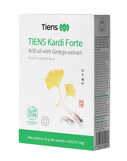 Picture of TIENS Kardi Forte - Krill olaj Ginkgo kivonattal
