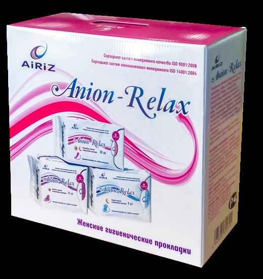 """Изображение Средства личной гигиены: Дневные, ночные, ежедневные женские гигиенические прокладки Anion-Relax """"AiRiZ"""" в наборе"""